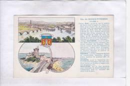A2A Z8 CPA 64 PAU BAYONNE ORTHEZ OLORON MAULEON LITHO PUB PASTILLES VALDA A VOIR - France