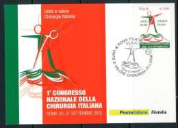 ITALIA / ITALY 2012 - 1° Congresso Nazionale Della Chirurgia Italiana -  MAXIMUM CARD Come Da Scansione - Maximum Cards