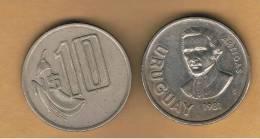 URUGUAY -  10  Pesos  1981  KM79 - Uruguay