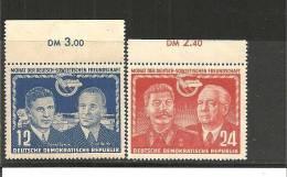 DDRSP038/ Mi.Nr.296-97**/   Dt.-Sowj. Freundschaft 1951, Oberrandsatz - DDR