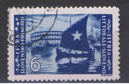 ISTRIA - OCC. JUGOSLAVA:  1946  TIRAT. BELGRADO -  £. 6  OLTREMARE  US.  -  D. 11 1/2  -  SASS. 66 - Yugoslavian Occ.: Istria