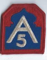 """Armée ? /Ecusson Tissu / """" A5 """" /vers 1980        ET40 - Insignes & Rubans"""