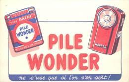 Buvard Réf.051. Pile Wonder - Ne S'use Que Si L'on S'en Sert - Piles