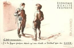 Buvard Réf.059. Coke - Le Petit Ramoneur : J'ai La Figure Propre Avec Coke - Signé - Electricity & Gas