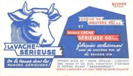 Buvard Réf.063. La Vache Sérieuse - Crème De Gruyère - Produits Laitiers