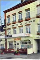 """CPM, Aisne, Le Nouvion-en-Thiérache, Hôtel-Restaurant """"La Paix"""", Propriétaire O. Schlaflang - France"""