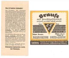 Etikett BRAUSE - Johann Kocemba, Döbern N.L., Nawinta Erzeugnis, Windsheimer Quellvertrieb KG - Bier