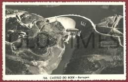 PORTUGAL - CASTELO DE BODE - VISTA AEREA DA BARRAGEM - 50S REAL PHOTO PC. - Santarem