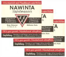 NAWINTA, Mühlheim/ Ruhr, BERG-BRAUEREI H. MANN K.G. † 1995 Nordrhein-Westfalen, Tafelwasser - Bier