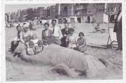 21912 Photo Concours Sculpture Sable Automobile -cote Belge Belgique 1932 Enfant (55x80mm)