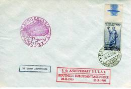 51 - ANNO 1960 - 5° ANNIVERSARIO S.E.T.A.F. SOUTHERN EUROPEAN TASK FORCE 1955/1960 - 1946-60: Storia Postale