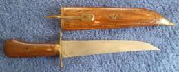 Poignard Indien, Longueur 34 Cm  Avec Le Fourreau - Knives/Swords