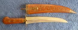 Poignard Indien, Longueur 41 Cm  Avec Le Fourreau - Knives/Swords
