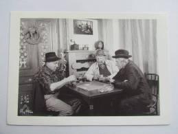 PARTIE DE CARTES JEU JEUX  GM 9 LES GENS DE LA MONTAGNE EDIT. MYTHRA SALLANCHES CLICHE J-C LIGEON MOULIN A CAFE - Ansichtskarten