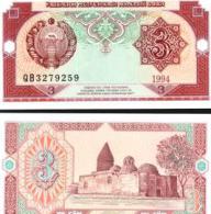Uzbekistan #74, 3 Sum, 1994, UNC / NEUF - Usbekistan