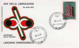91 - LANCIANO 25-04-1975 - PARTIGIANI - RESISTENZA - XXX ANN. LIBERAZIONE - - 6. 1946-.. Repubblica