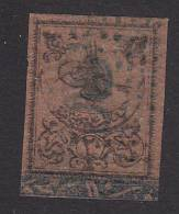 Turkey, Scott #J1, Used, Tughra Surcharged, Issued 1863 - 1858-1921 Empire Ottoman