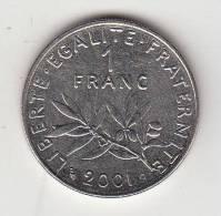 Pièce - France - 1 Francs - Semeuse - 2001 - Francia
