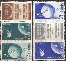 Romania 1957 PA Nuovo** - Mi.1677/80  Yv.69/72  2strisce - Luftpost