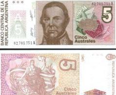 Argentina #324b, 5 Australes, ND (1986-89), UNC - Argentinien