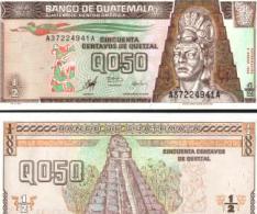 Guatemala # 98, ½ Quetzal, 1998, UNC / NEUF - Guatemala