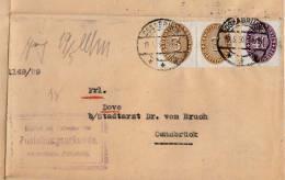 DR 1930, 3 Fach Frankierung (40 Pf + 2 X 3 Pf) Auf Gerichtsladung Osnabrück - Covers & Documents
