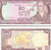 Colombia #425b, 50 Pesos Oro, 1986, UNC / NEUF - Kolumbien