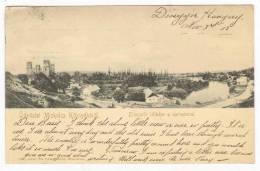 Udvozlet Miskolcz Kornyekerol, Diosgyor Latkepe A Uarrommal, Hungary, PU-1903 - Hongrie