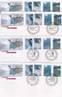 AAT 1996 Extreme Land Forms Set 4 Bases FDCs - Australian Antarctic Territory (AAT)