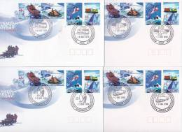 AAT 1998 Antarctic Transport Set 4 Bases FDCs - Australian Antarctic Territory (AAT)