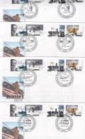 AAT 1999 Mawson's Huts Set 4 Bases FDCs - Australian Antarctic Territory (AAT)