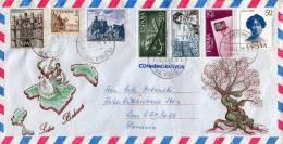 Balearen (Spanien), LP-Schmuck-Brief Mit 7 Facher Sehr Schöner Frankierung, Gel.v.Baleares N.Hamburg - 1931-Heute: 2. Rep. - ... Juan Carlos I