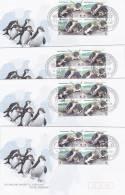 AAT 2007 Royal Penguins, Eudyptes Block 4 Set 4 Bases FDC - Australian Antarctic Territory (AAT)