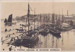 Cavanders Vintage Cigarette Card Homeland Series Real Photos No 5 Fishing Smacks Brixham Harbour  1924 - Cigarette Cards