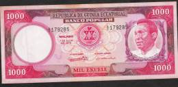 EQUATORIAL GUINEA  P13  1000 EKUELE  1975    XF/AU - Guinea Ecuatorial