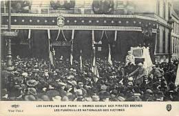 Themes Div- Ref F10-guerre 1914-18-zeppelins Sur Paris -les Funerailles Nationales Des Victimes -carte Bon Etat  - - Dirigibili