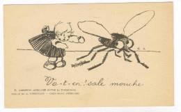 Bureau De La Tuberculose, Girl Yells At Giant Fly, 00-10s - Insetti