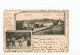Haut Rhin - 68 - Souvenir Des Trois épis Cachet 1900 , Pas Courante Animée Ane , Ed Jeankuster , Photographe Urbeis I.e - Trois-Epis