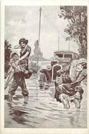Themes Div- Ref E979- Illustrateur -aquarelle De G Conrad -les Incidents De La Route -l Inondation -carte Bon Etat   - - Toerisme