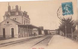 87 BELLAC  LA GARE  Ligne De Chemin De Fer  QUAIS  Vue Sur Les PONTS En 1927 - Bellac