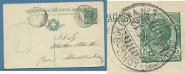 AMBULANTE Castellammare Adriatico - Bologna N.5 - ANNULLO SU INTERO POSTALE IN DATA  8/7/12 - 1900-44 Vittorio Emanuele III