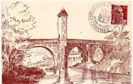 Orthez Expo Philatelique1947 - Timbres