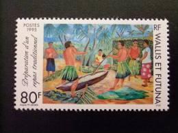 WALLIS ET FUTUNA WALLIS Y FUTUNA 1995 REPAS TRADITIONNEL COMIDA TRADICIONAL Yvert & Tellier Nº 472 ** - Wallis Y Futuna