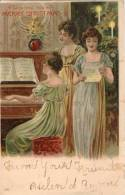 Belle Illustrée : Trois Jolies Dames Chantant Au Piano . MERRY CHRISTMAS ! - Noël