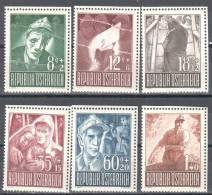 Austria 1947 -  Mi.829-834 -  MNH (**) - 1945-60 Nuevos & Fijasellos