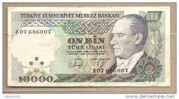 Turchia - Banconota Da 10.000 Lire - Turchia