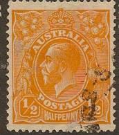 AUSTRALIA 1926 1/2d Orange KGV SG 94 U YH214 - 1913-36 George V: Heads