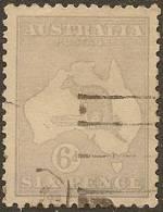 AUSTRALIA 1915 6d Dull Blue Roo SG 38b U YH326 - Usados