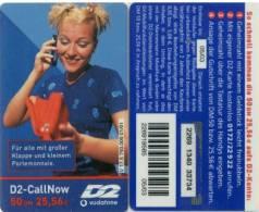 Prepaidcard Deutschland  - D2-CallNow  - D2 Vodafone-  V 17.5 - 05/03 - Frau,woman - Deutschland