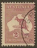 AUSTRALIA 1929 2/- Maroon Roo SG 110 U YH344 - 1913-48 Kangaroos